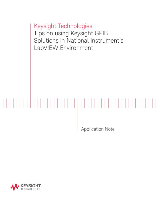 Using GPIB Solutions in NI's LabVIEW Environment