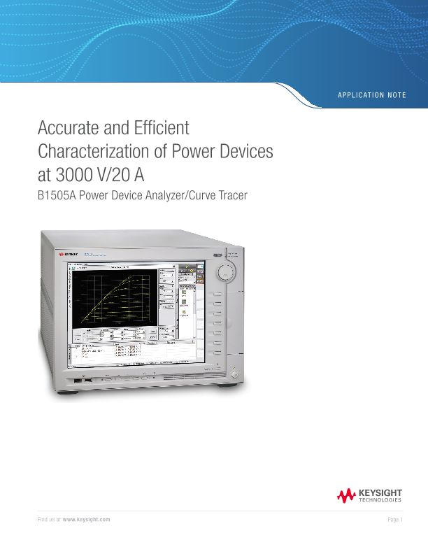 Accurate and Efficient Characterization of Power Devices at 3000 V/20 A