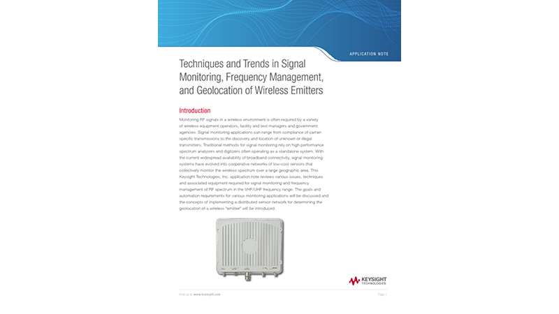 Techniques and Trends in Signal Monitoring, Frequency Management, and Geolocation of Wireless Emitters