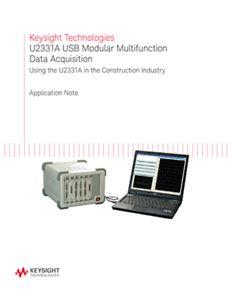 USB Multifunction DAQ U2331A in Construction Industry