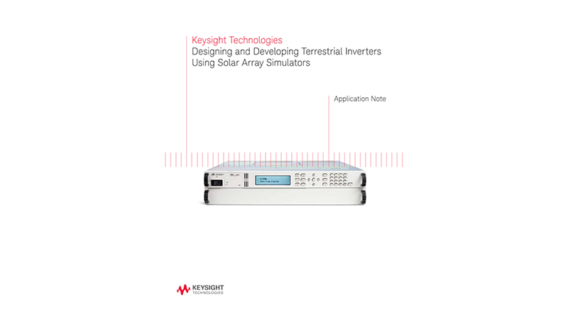 Terrestrial Solar Inverter Design Using Solar Array Simulators