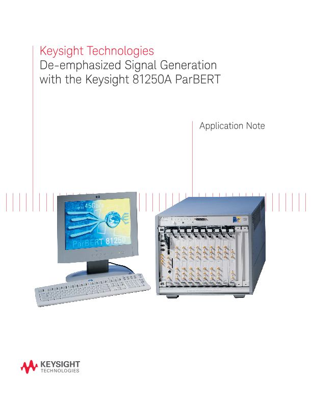 De-Emphasized Signal Generation with the 81250A ParBERT
