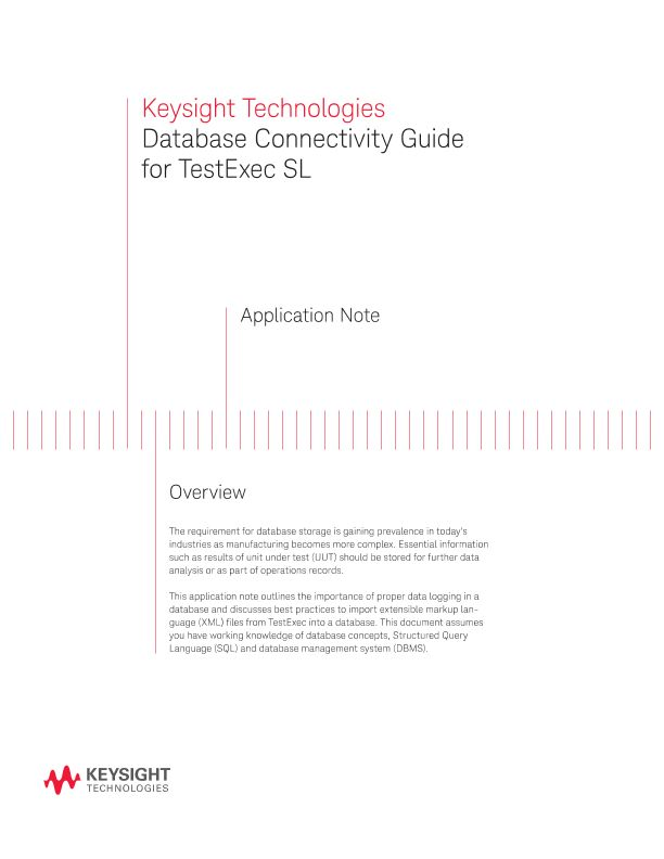 Database Connectivity Guide for TestExec SL