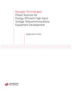 Power Sources – Efficient Telecom Equipment Development