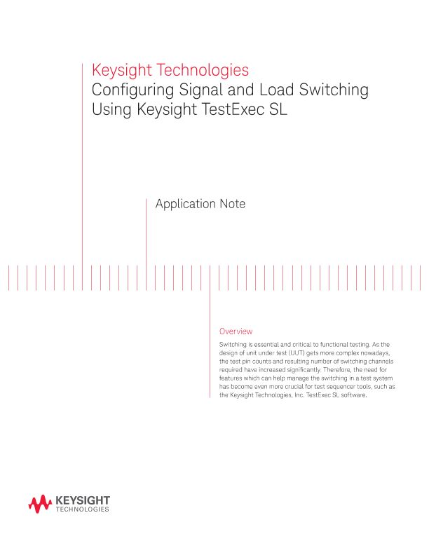 Configuring Signal and Load Switching Using TestExec SL