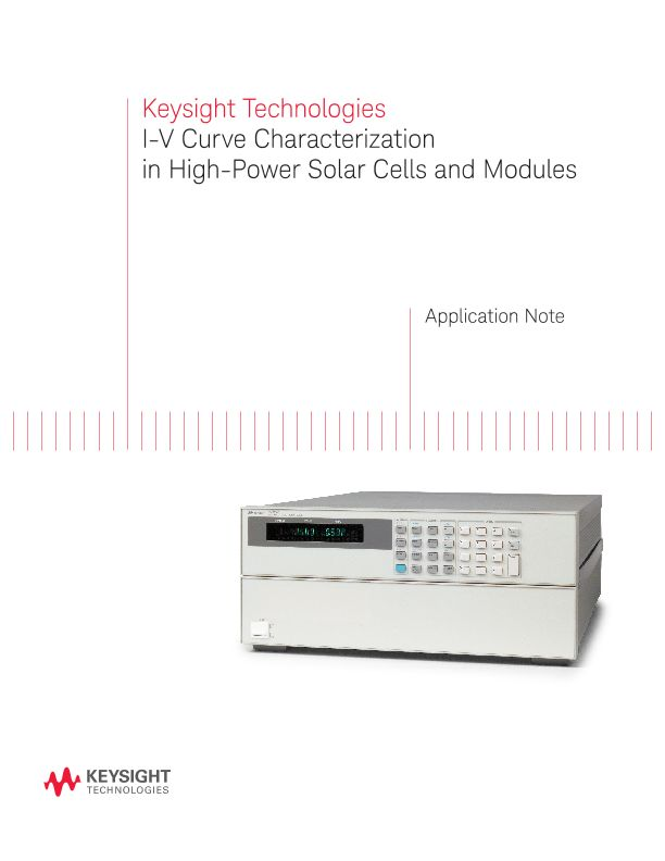 IV Curve Solar Cell Characterization