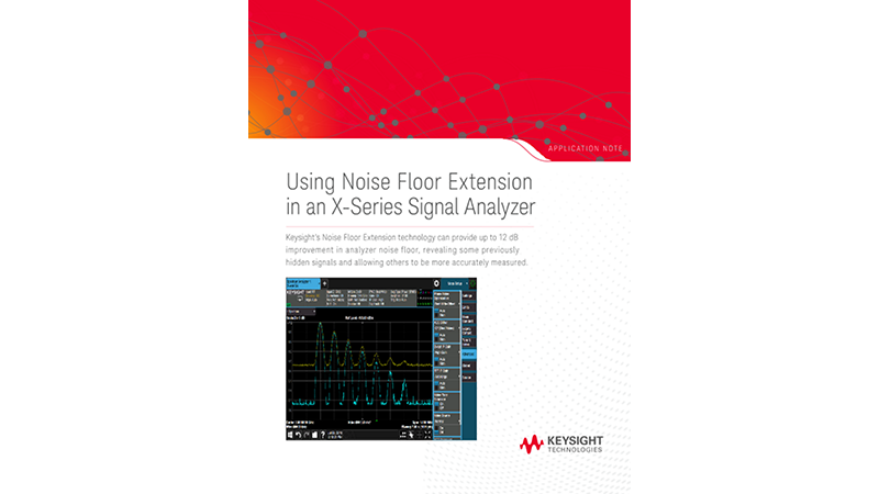 Using Noise Floor Extension in an X-Series Signal Analyzer