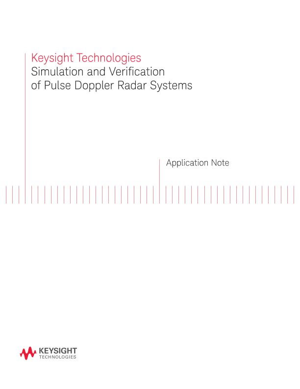 Simulation and Verification of Pulse Doppler Radar Systems