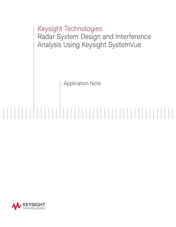 Radar System Design and Interference Analysis Using SystemVue