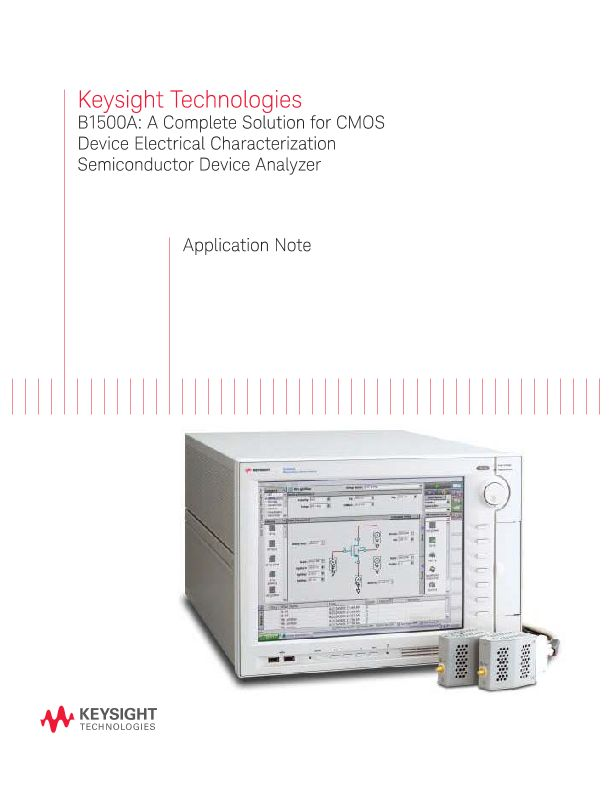 The B1500A: A Complete Solution for CMOS Device Electrical Characterization