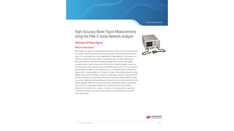 High-Accuracy Noise Figure Measurements with Network Analyzers