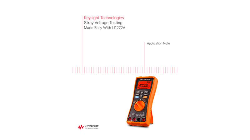 Stray Voltage Testing Made Easy With Handheld DMMs
