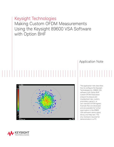 Making Custom OFDM Measurements Using the 89600 VSA Software