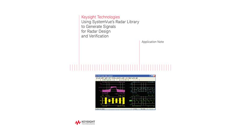 Generating Radar Signals Using SystemVue's Radar Library
