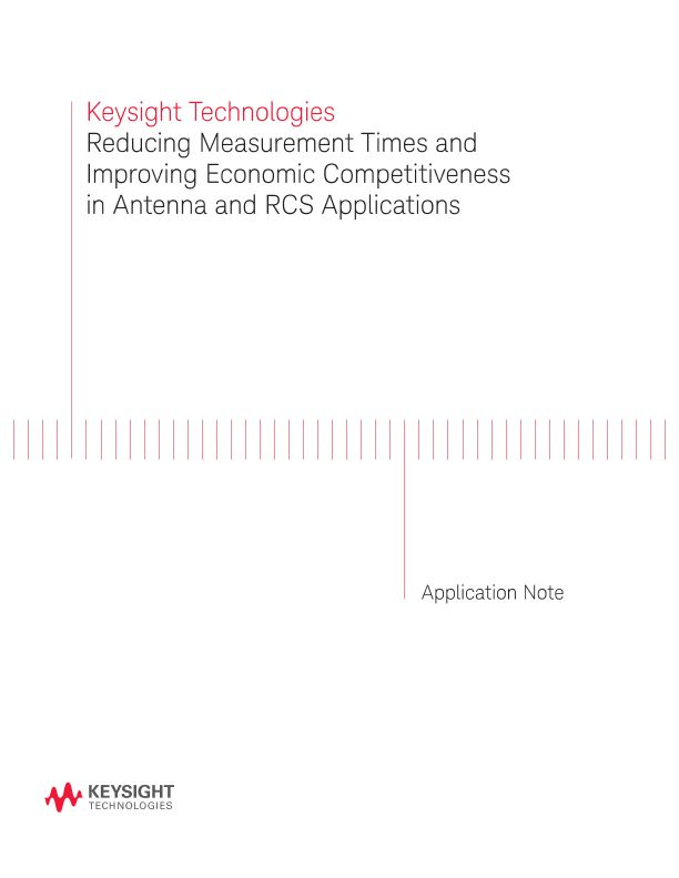 Reducing Measurement Times in Antenna and RCS Applications