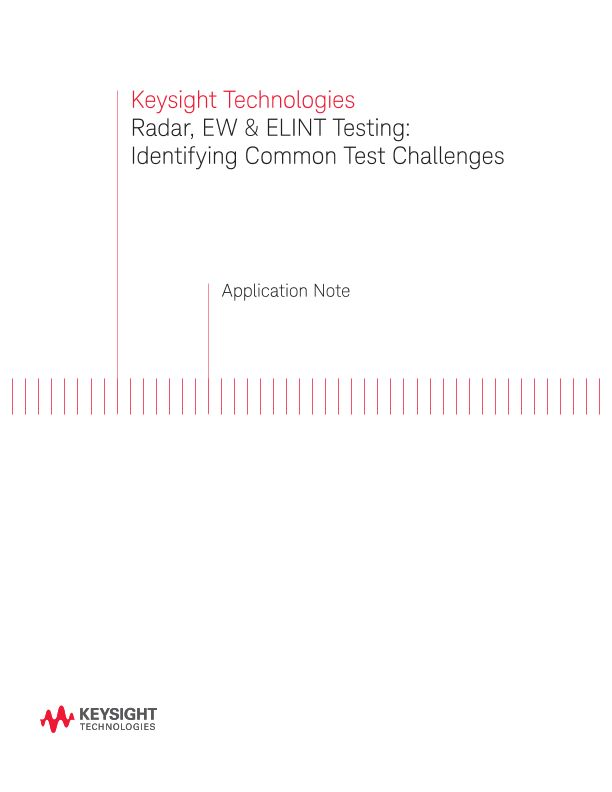 Radar, Electronic Warfare (EW) and ELINT Testing Challenges