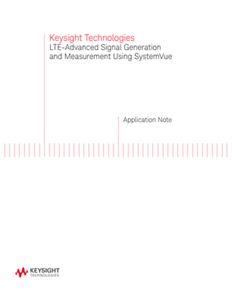 LTE-Advanced Signal Generation Using W1918 SystemVue