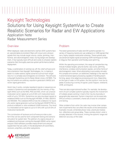Creating Realistic Scenarios for Radar and EW Applications