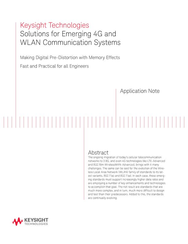 Solutions for Emerging 4G and WLAN Communications Systems