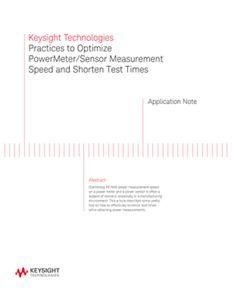 Tips for Optimizing Power Meter / Sensor Measurement Speed