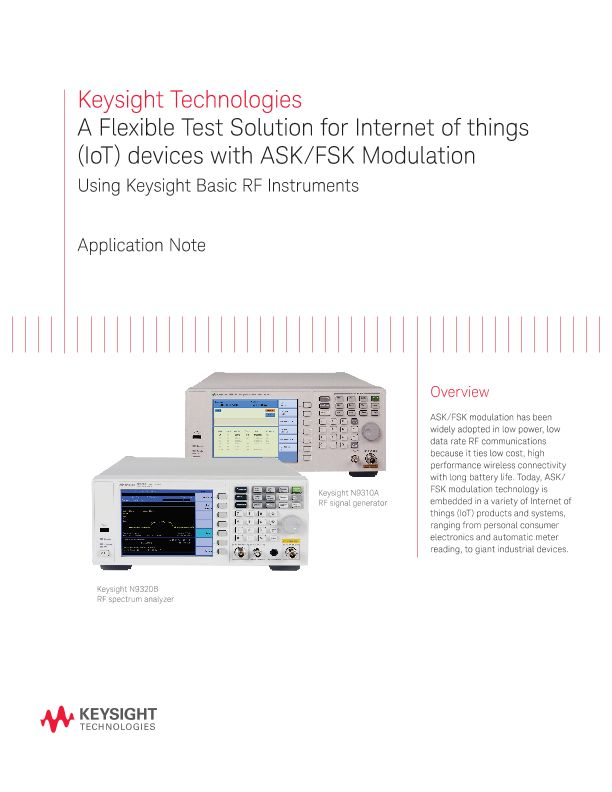 Internet of Things (IoT) Equipment with ASK/FSK Modulation