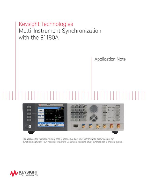 Multi-Instrument Synchronization with the 81180A