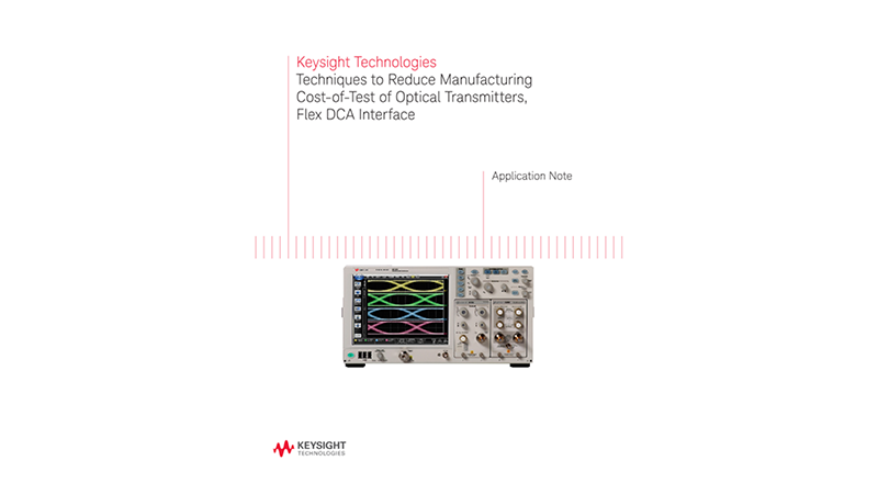 How to Reduce Cost-of-Test of Optical Transmitters, Flex DCA