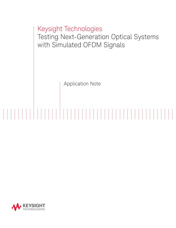 Testing Optical Systems with Simulated OFDM Signals