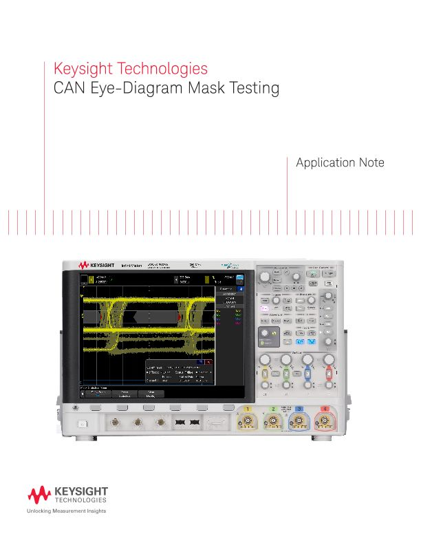 Controller Area Network (CAN) Eye-Diagram Mask Testing
