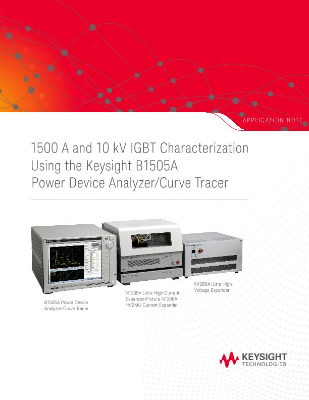 IGBT Measurements and Characterization using the B1505A