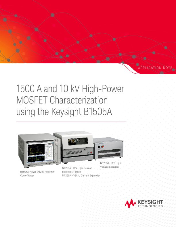 High-Power MOSFET Characterization using the Keysight B1505