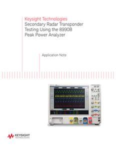 Secondary Radar Transponder Test Using a Peak Power Analyzer