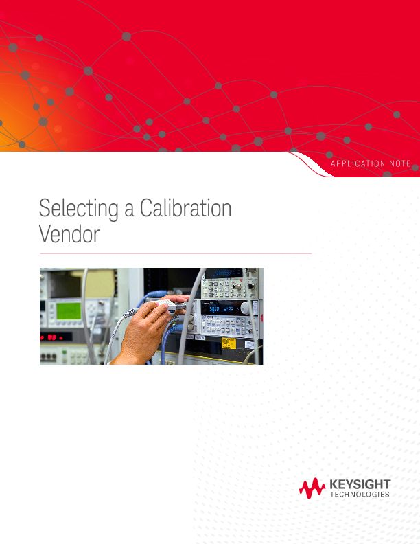 Selecting a Calibration Vendor