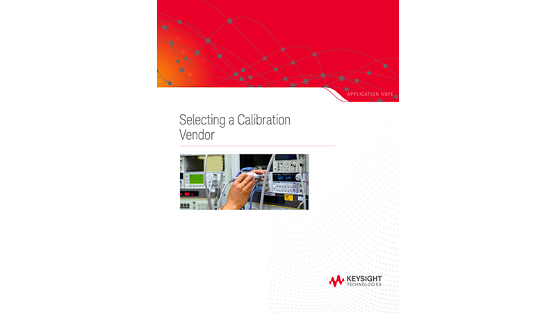 Selecting a Calibration Vendor