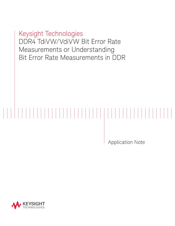 DDR4 Bit Error Rate Measurements