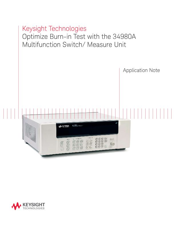 Burn-In Test with the 34980A Multifunction Switch / Measure Unit