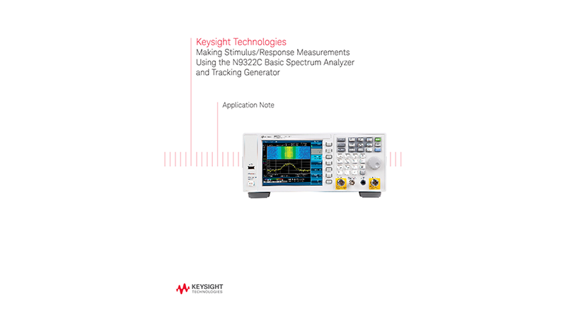 Stimulus-Response Tests Using a Spectrum Analyzer