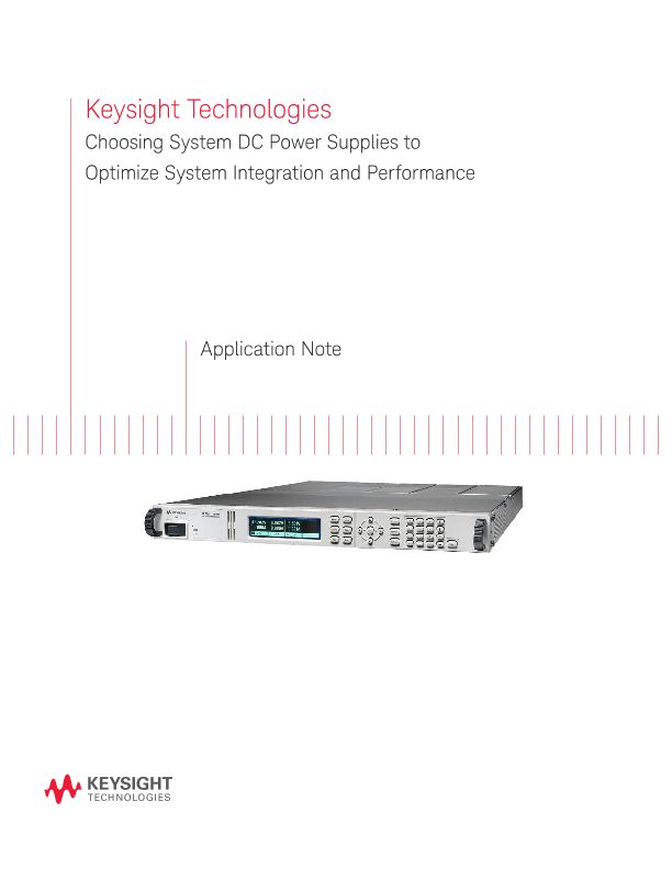 How to Choose System DC Power Supplies