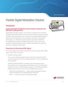 Flexible Digital Modulation Solution