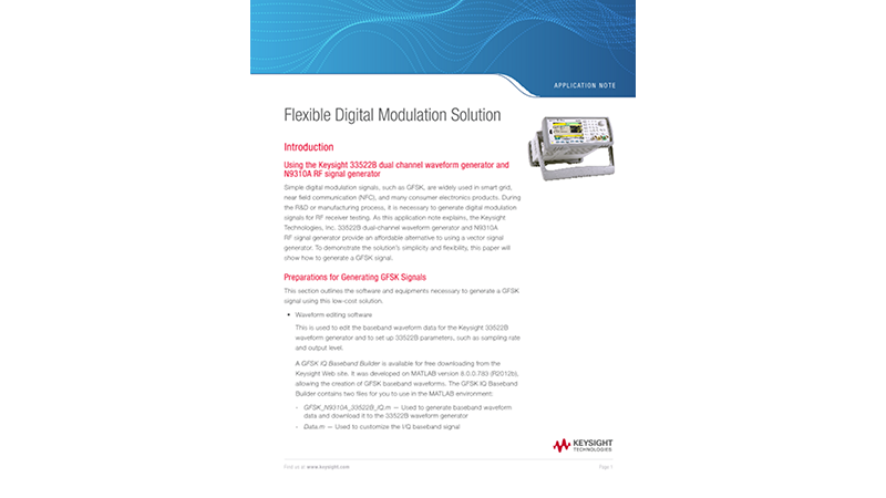 Flexible Digital Modulation Solution