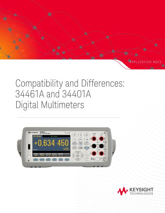 Digital Multimeter 34461A vs 34401A