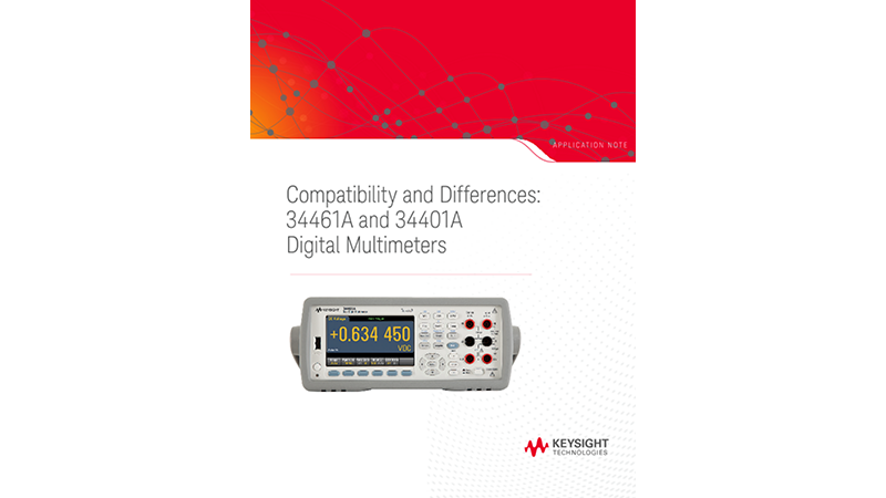 Digital Multimeter 34461A vs 34401A
