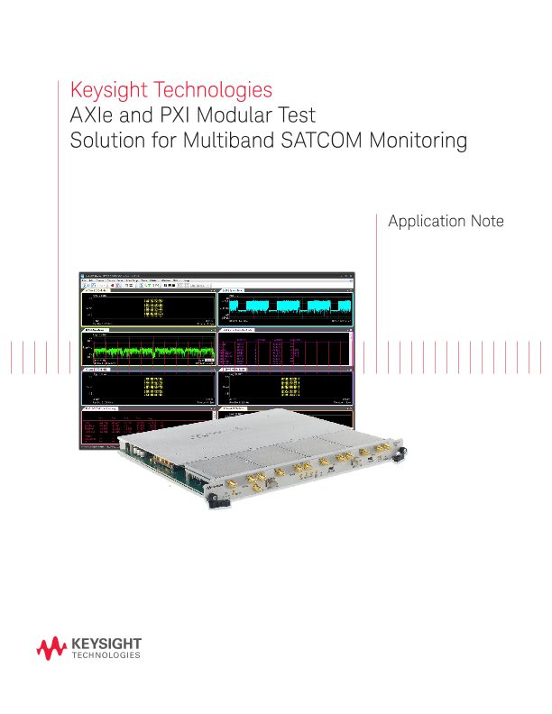 AXIe and PXI Modular Solution for SATCOM Applications