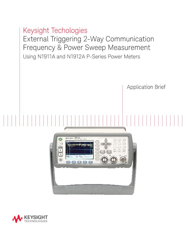 External Triggering 2-Way Communication Frequency & Power Sweep Measurement