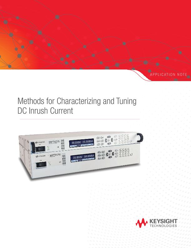 Methods for Characterizing and Tuning DC Inrush Current