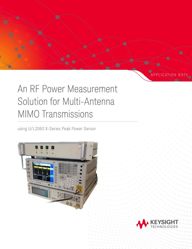 An RF Power Measurement Solution for Multi-Antenna MIMO Transmissions