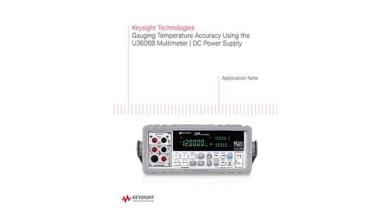 Temperature Gauge with Multimeter DC Power Supply (U3606B)