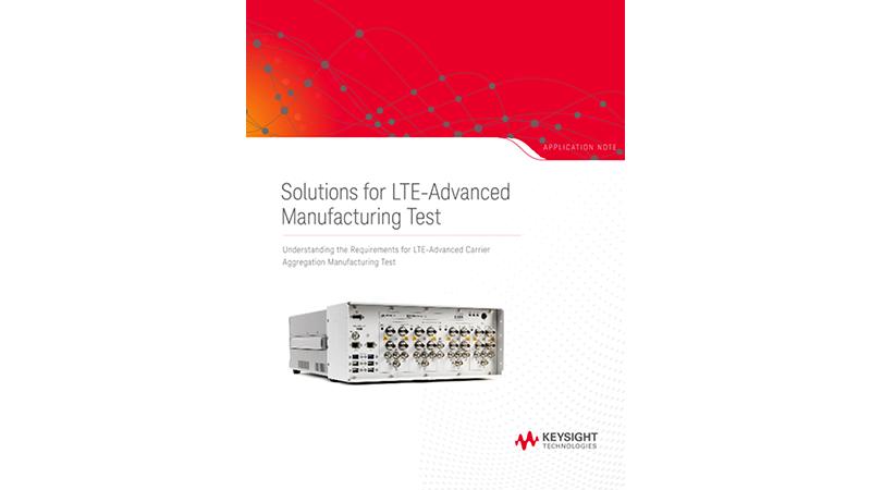 LTE-Advanced Manufacturing Test