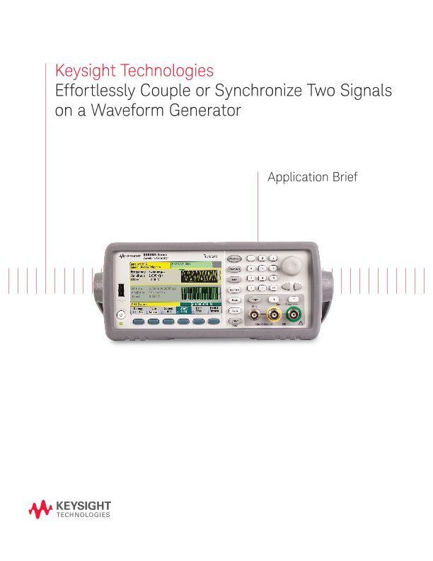 Coupling Two Signals on a Two-channel Waveform Generator