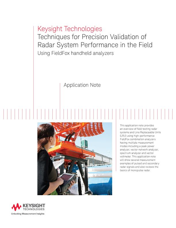 Validation of Radar System Performance in the Field